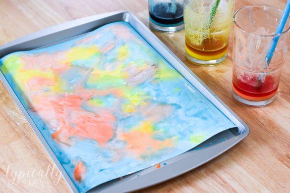 Fizzy Art – Baking Soda Paint