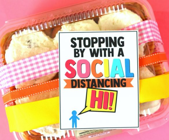 Social Distancing Gift Idea with free printable