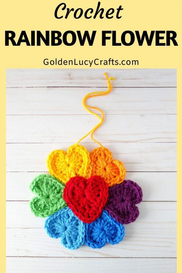 Crochet Rainbow Flower for Window