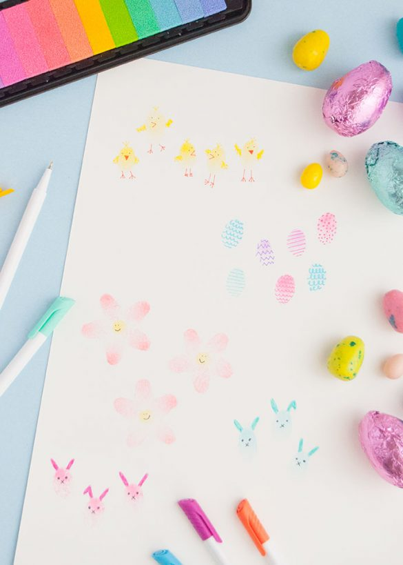 Easy Easter Fingerprint Art