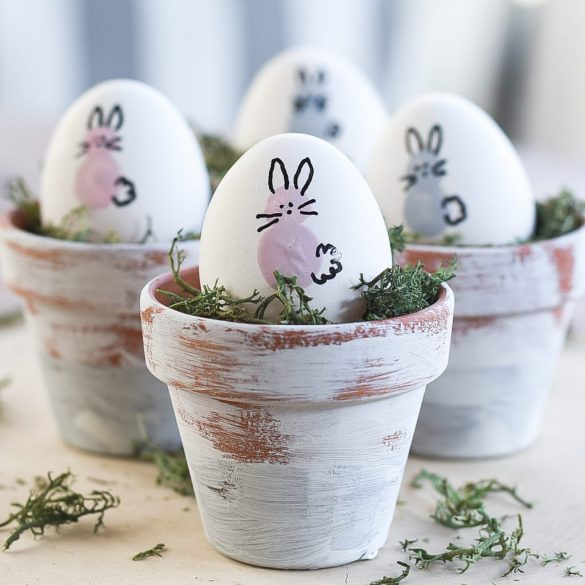 Thumbprint Bunny Easter Eggs
