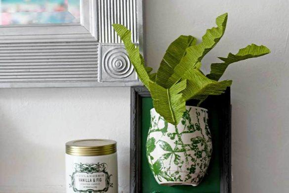 A Fun DIY Tropical Leaf Plant For A Wall Vase