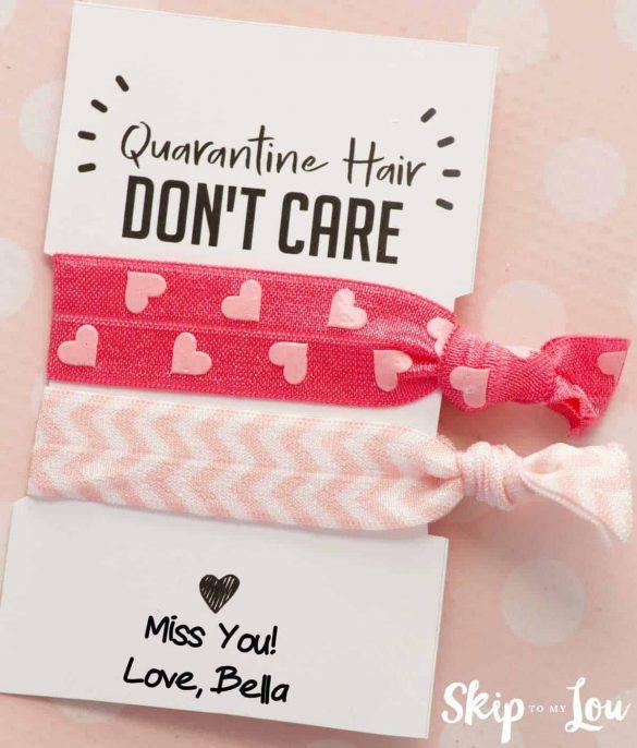 Coronavirus Hair Don't Care Hair Ties | Free Printable