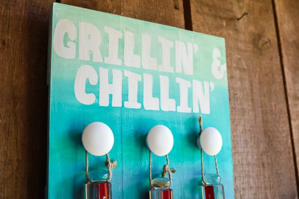 DIY Grill Storage with an Ombre Paint Technique