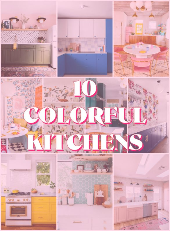 10 Colorful Kitchens + Easy Ways to Add Color to Yours