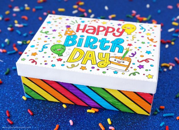 Free Printable Birthday Gift Box
