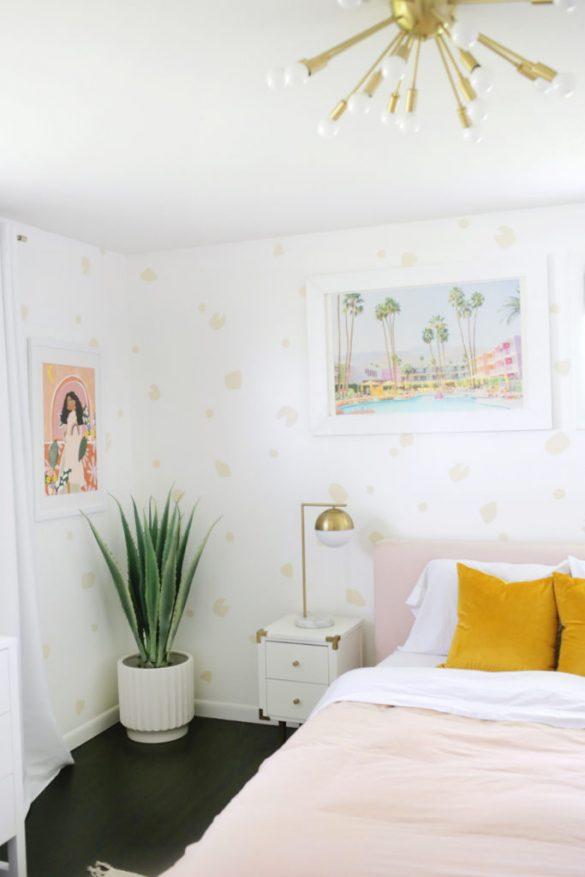 Removable Leopard-Inspired Wallpaper DIY