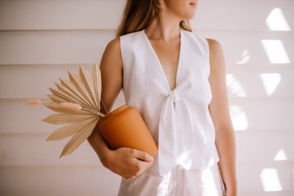 Make This Tie Front Linen Top!