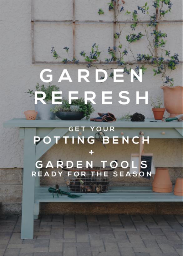 Garden Refresh: Potting Bench & Garden Tool Makeovers