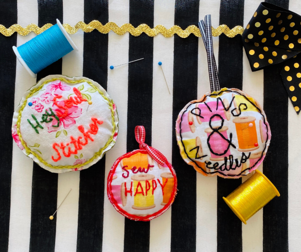 DIY Embroidered Pin Cushions