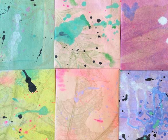 DIY Painted Splatter Envelopes