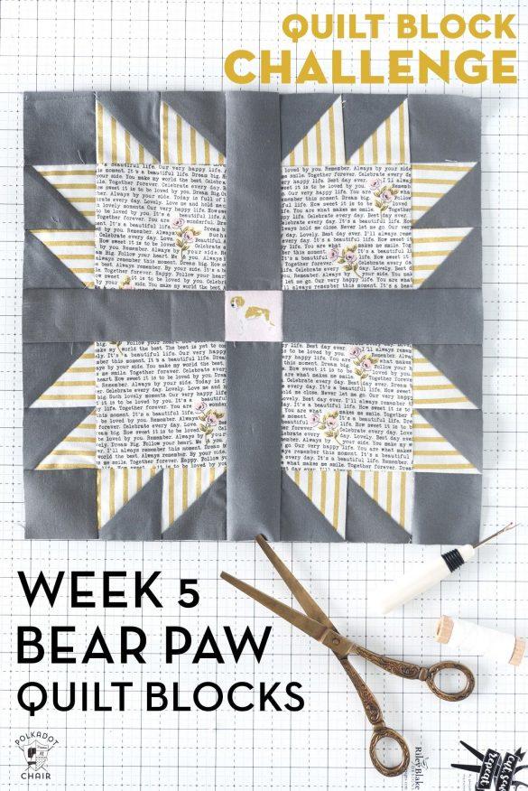 Bear Paw Quilt Block Tutorials