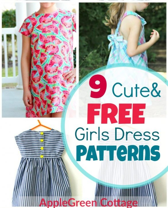 Dress Patterns For Girls – 9 Adorable Free Patterns!