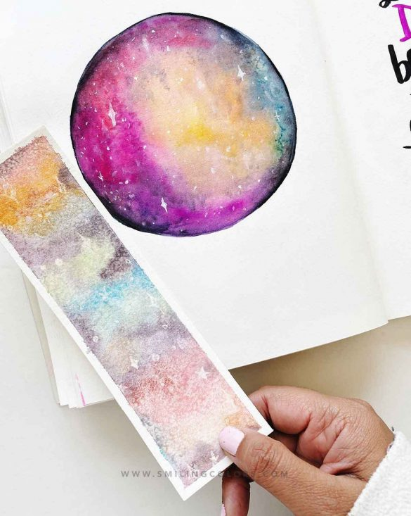 Rainbow galaxy painting Tutorial: with Video+ 2 examples