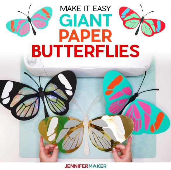 Giant Paper Butterfly: The Glasswing
