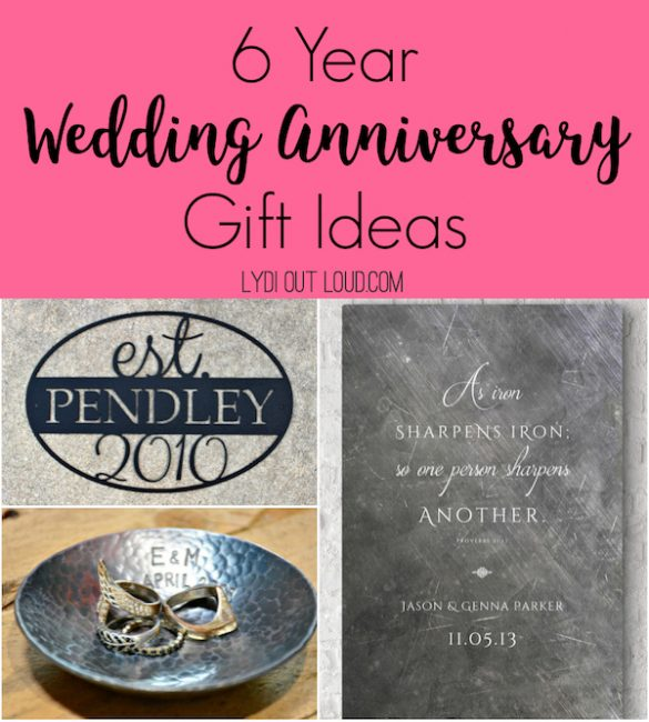 Traditional 6 Year Iron Anniversary Gift Ideas