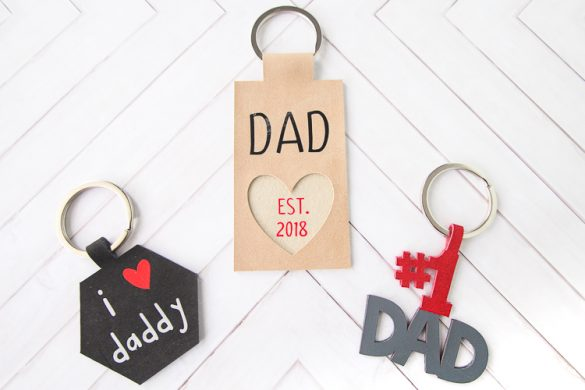 DIY Leather Keychain Father's Day Gift Idea