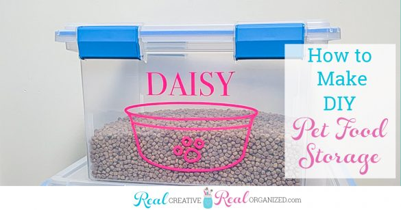 Pet Food Storage – How to Make this Cute DIY Solution