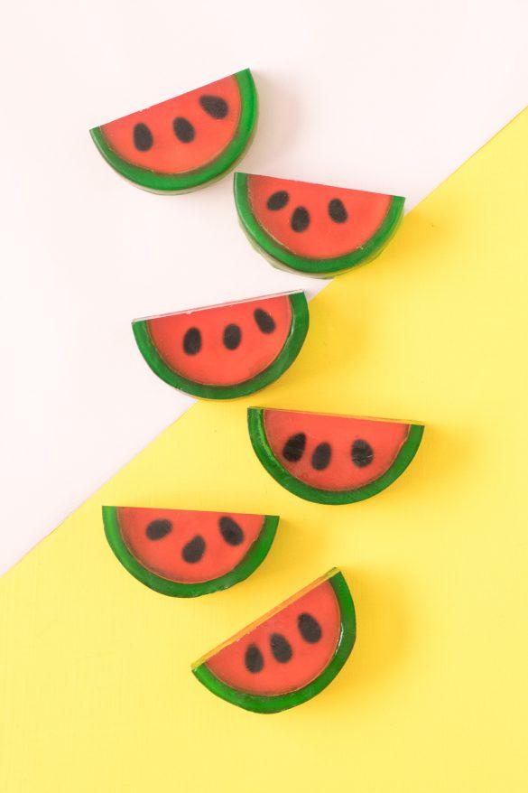 DIY Watermelon Soaps