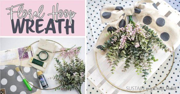 Pretty Floral Hoop Wreath