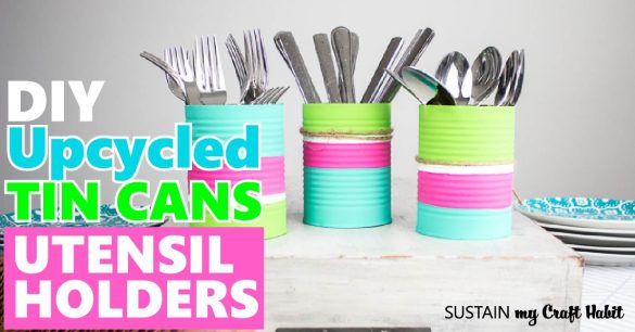 Upcycled DIY Utensil Holder