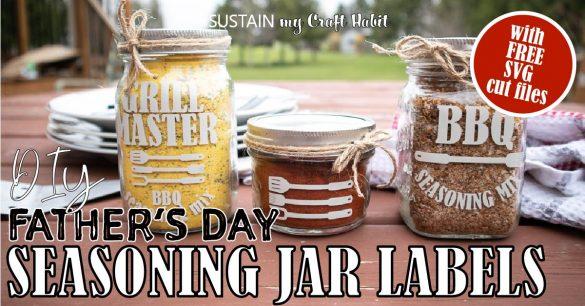 Father's Day BBQ Gifts: DIY Seasoning Mix Jars