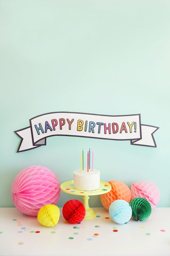 PRINTABLE BIRTHDAY BANNER
