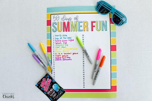 50 Days of Summer Fun For Kids: Summer Fun Chart