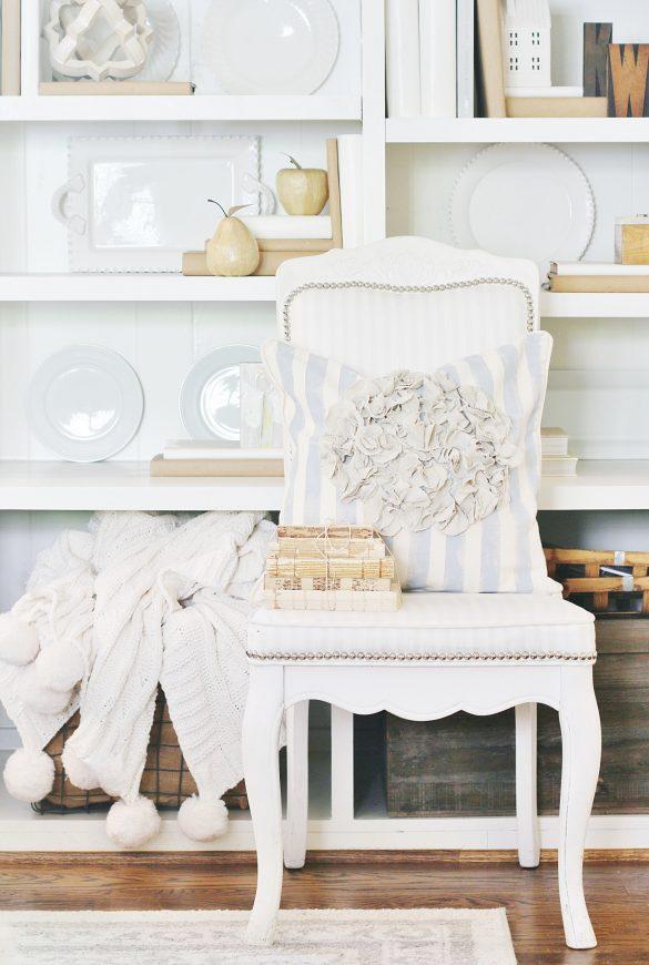 No Sew Pillow Covers DIY: Drop Cloth Hydrangea