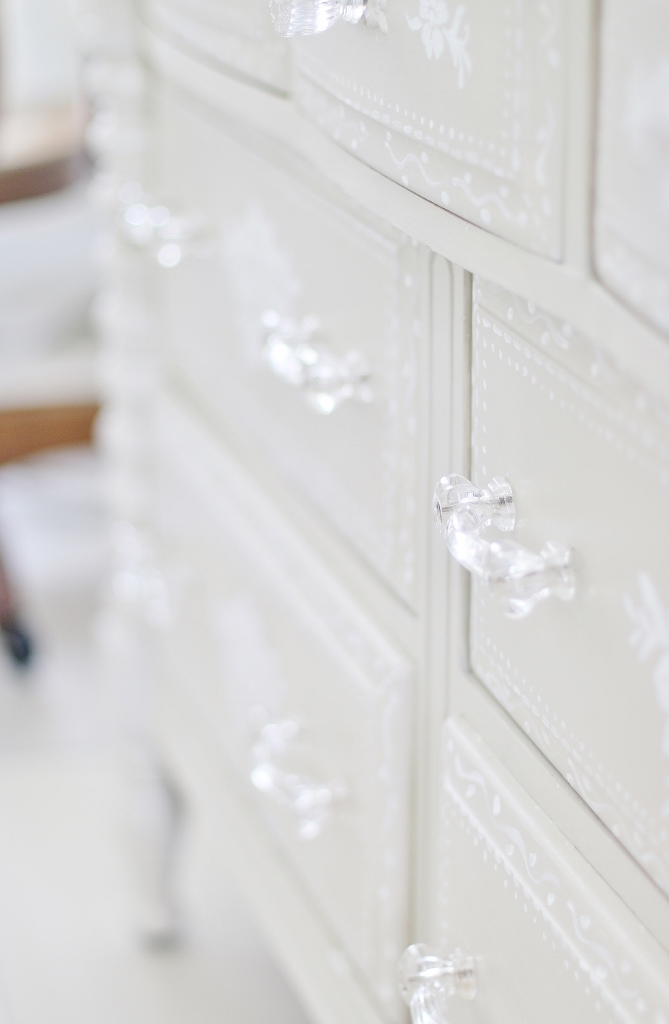 How To Stencil Wood: Painted Dresser Project