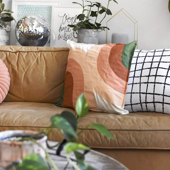 Painted Retro Pillow