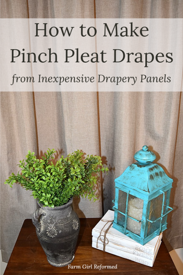 How to Make Pinch Pleat Drapes