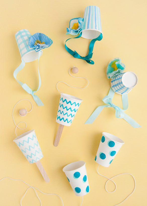 Painted Paper Cup Crafts: Three Ways