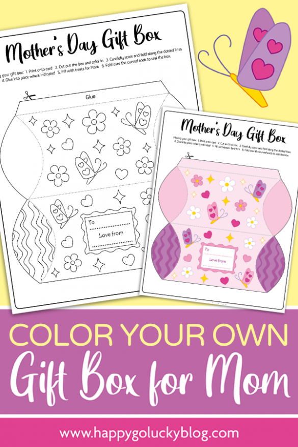 Mother's Day Gift Box {Free Printable}