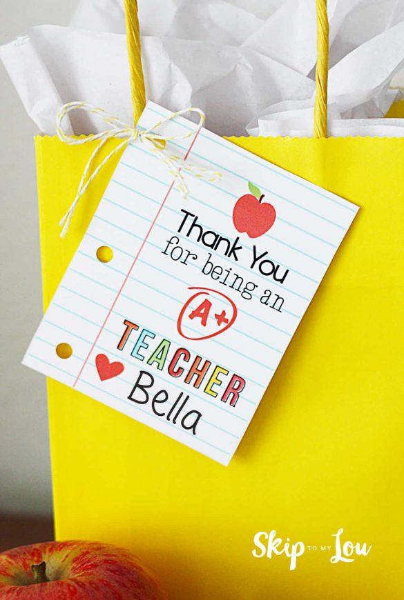 Teacher Appreciation Printables for Teacher Gifts