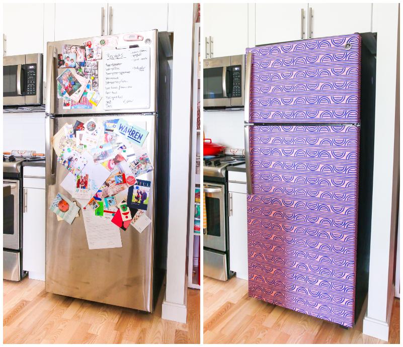 How To Wallpaper Your Fridge