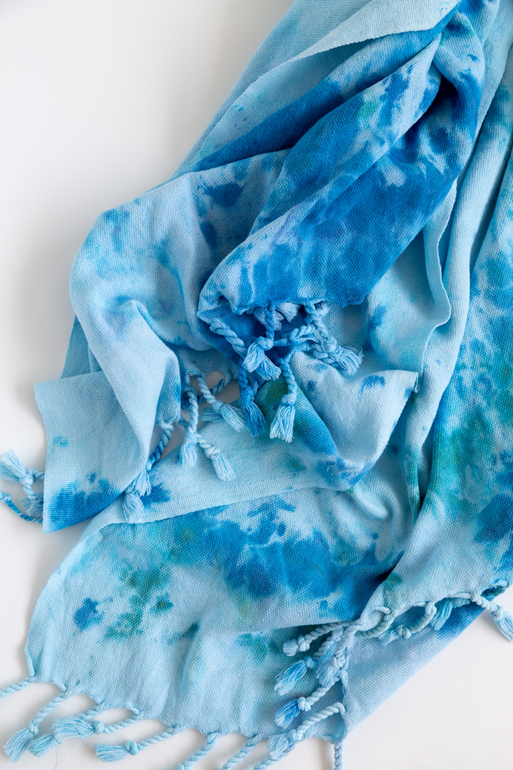 DIY Ice Dyed Beach Towels