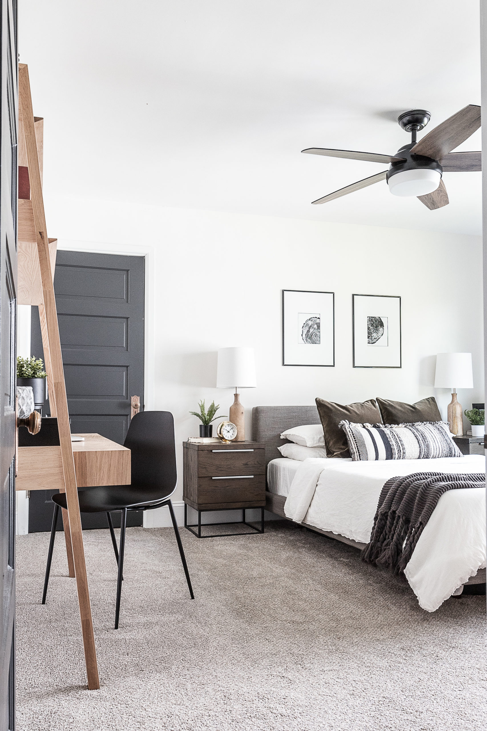 Cozy Modern Scandinavian Master Bedroom