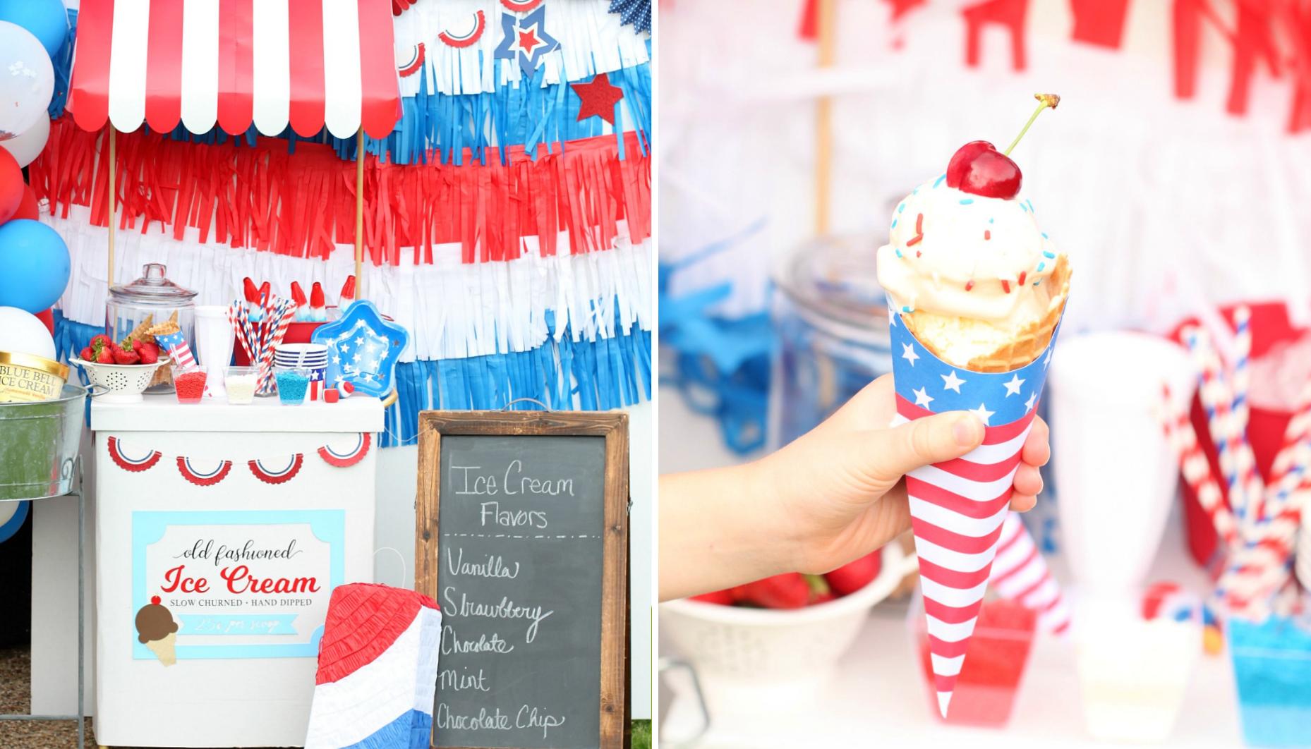 Easy Summer Entertaining: Patriotic Ice Cream Social