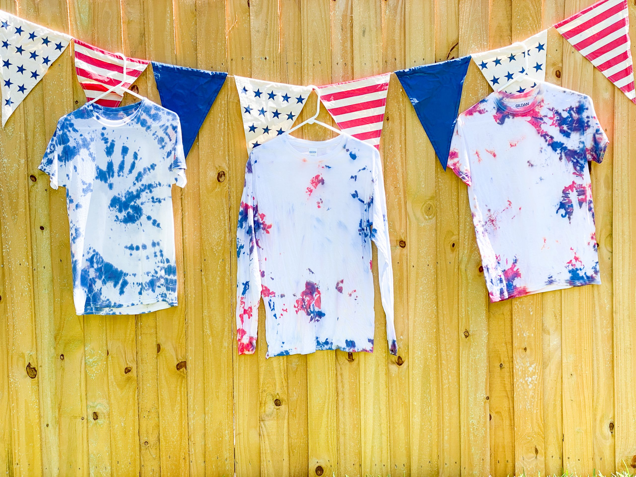 Red White and Blue Tie Dye DIY