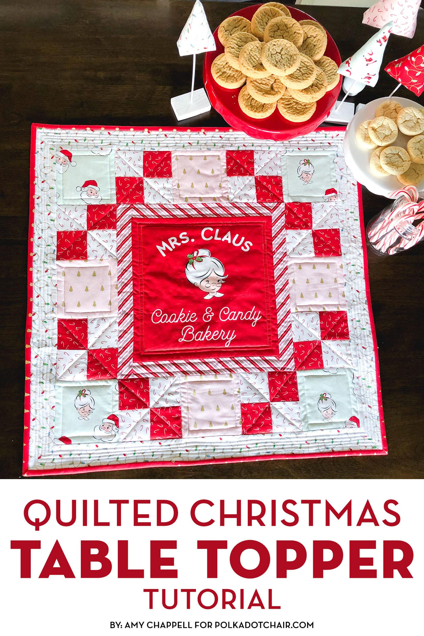 Mrs. Claus Christmas Table Topper Pattern