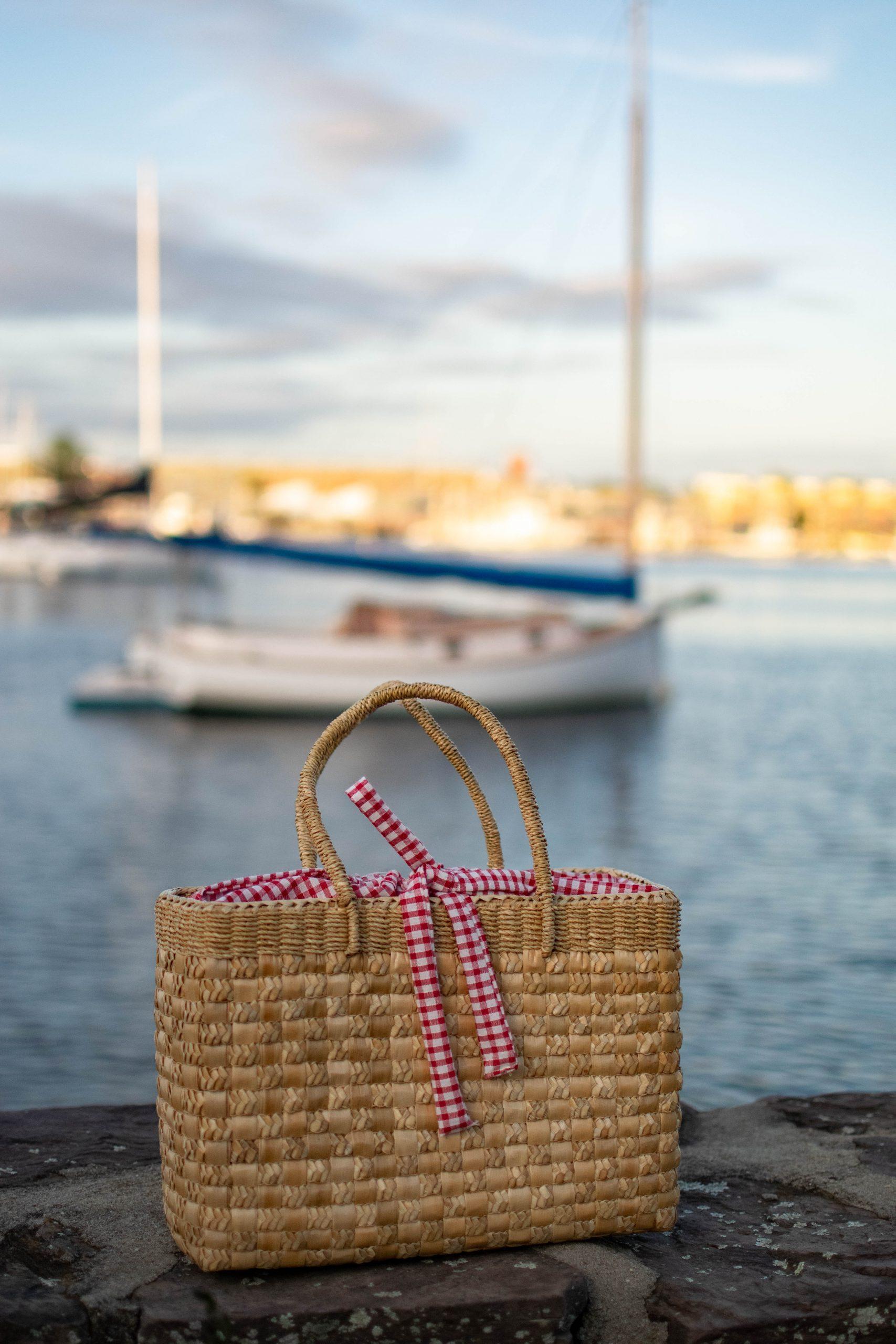 Drawstring Basket Bag Tutorial