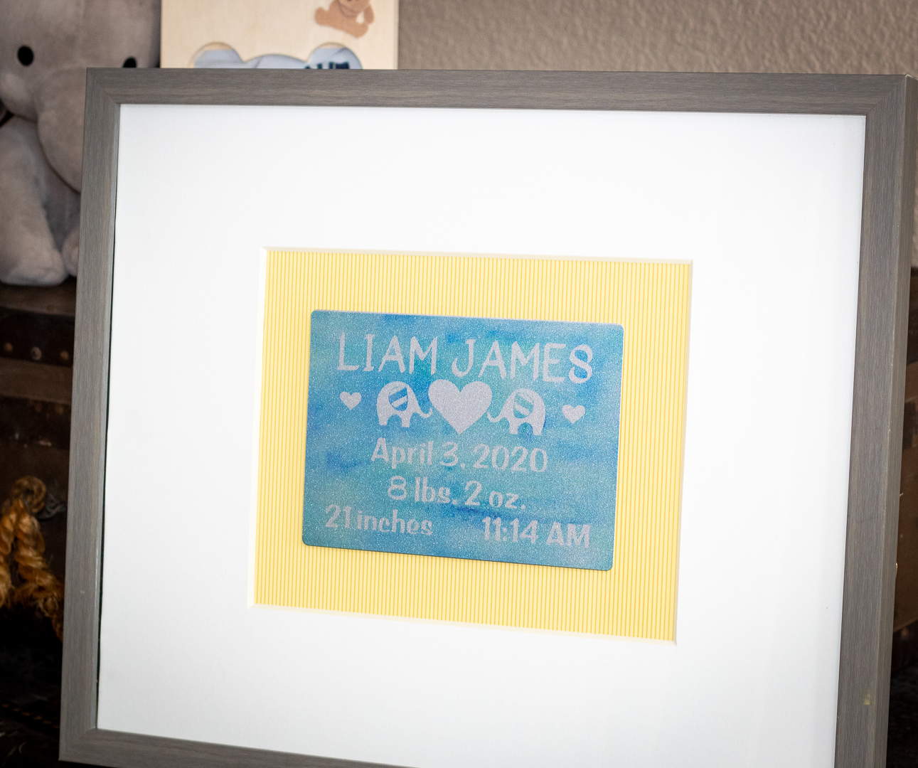 Infusible Ink on Aluminum:  DIY Personalized Newborn Baby Gift!
