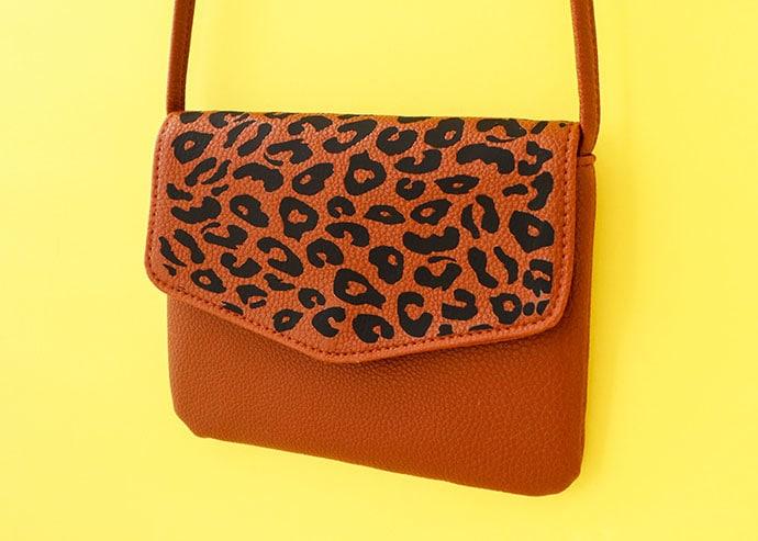 Leopard Print Bag Makeover with Cricut Joy