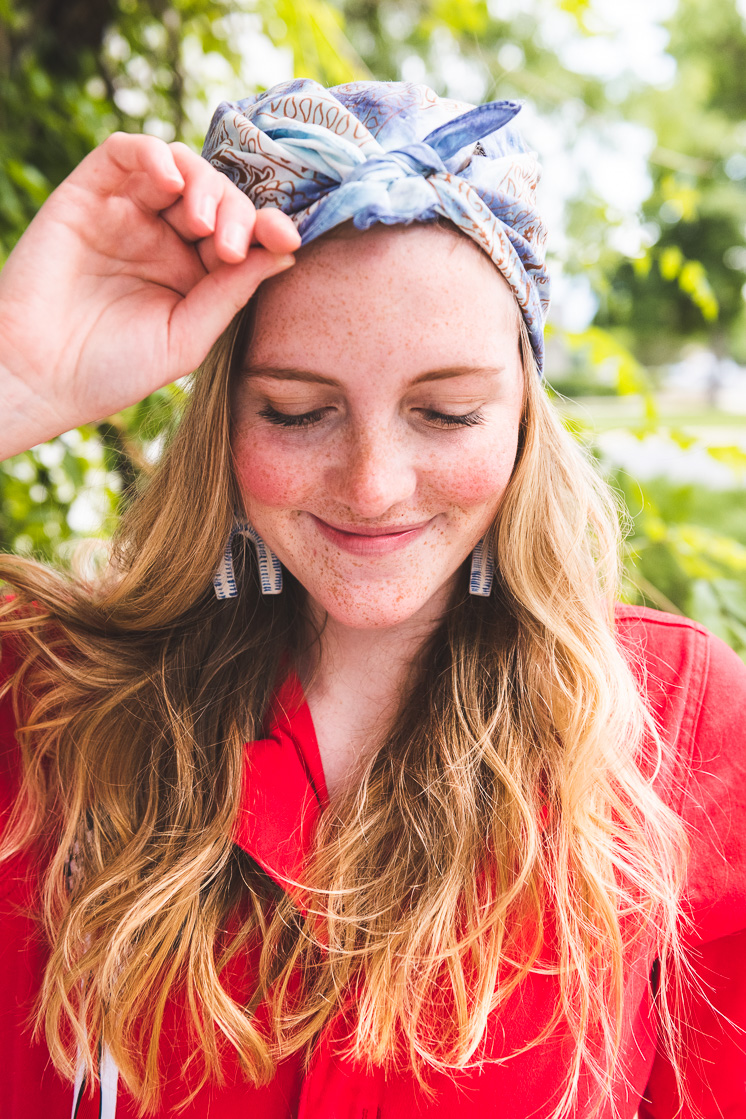 DIY Tie Dye Bandana for The Fourth of July