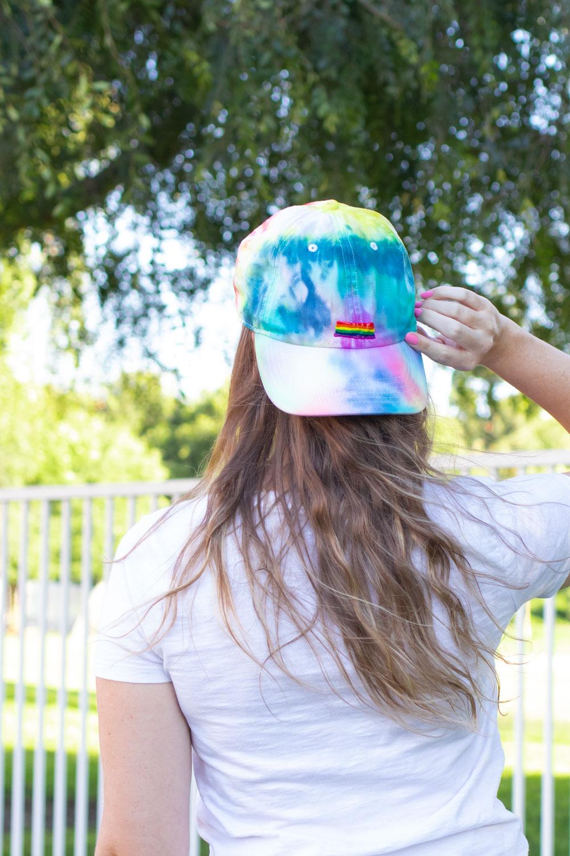 Rainbow Tie Dye Hat for Pride Month