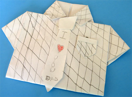 Shirt Origami for Father's Day