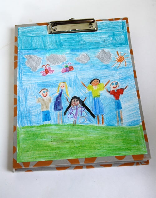 DIY Child's Artwork Decorated Clipboard {Great Gift!}