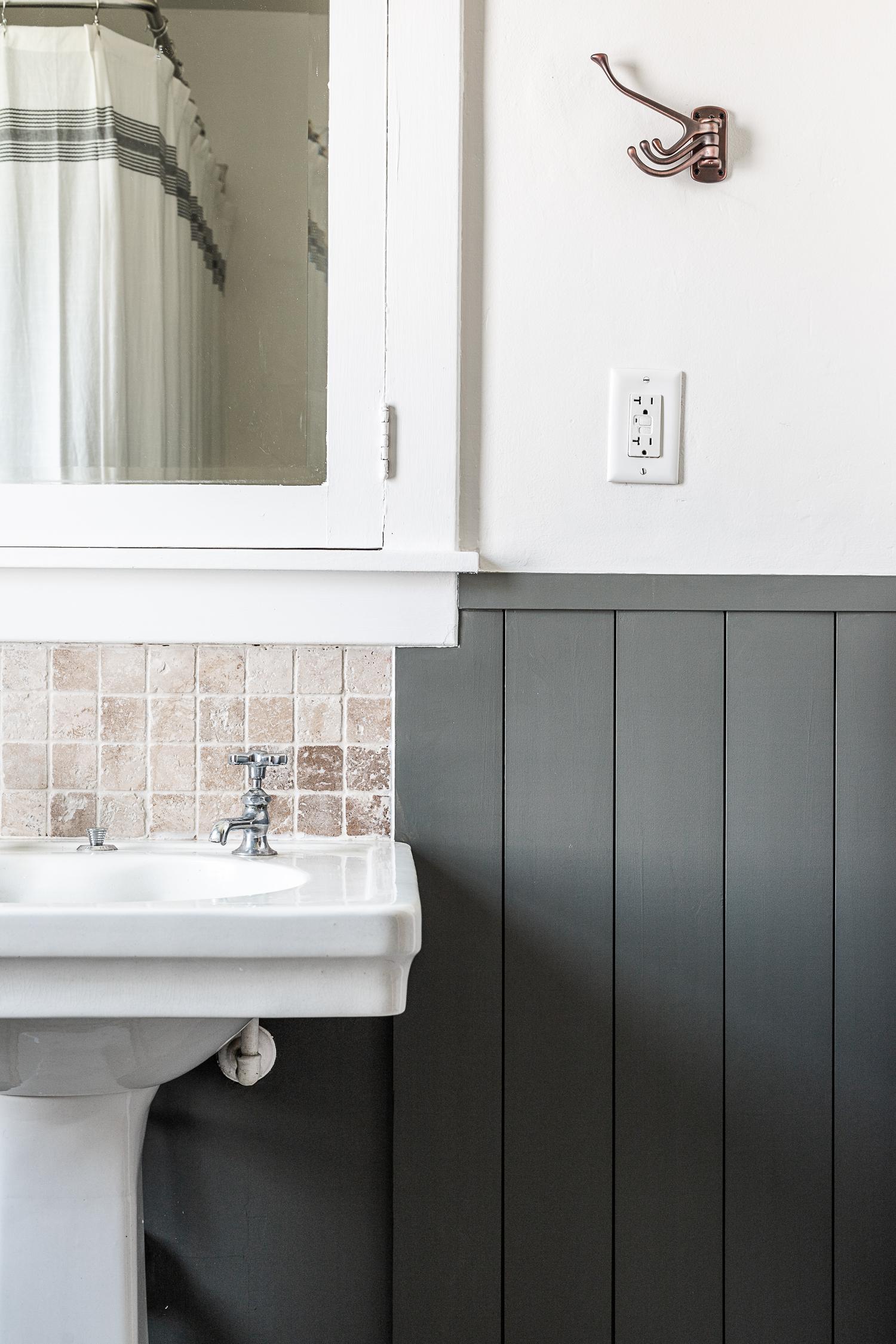 Boys Bathroom Makeover in a Historic Home