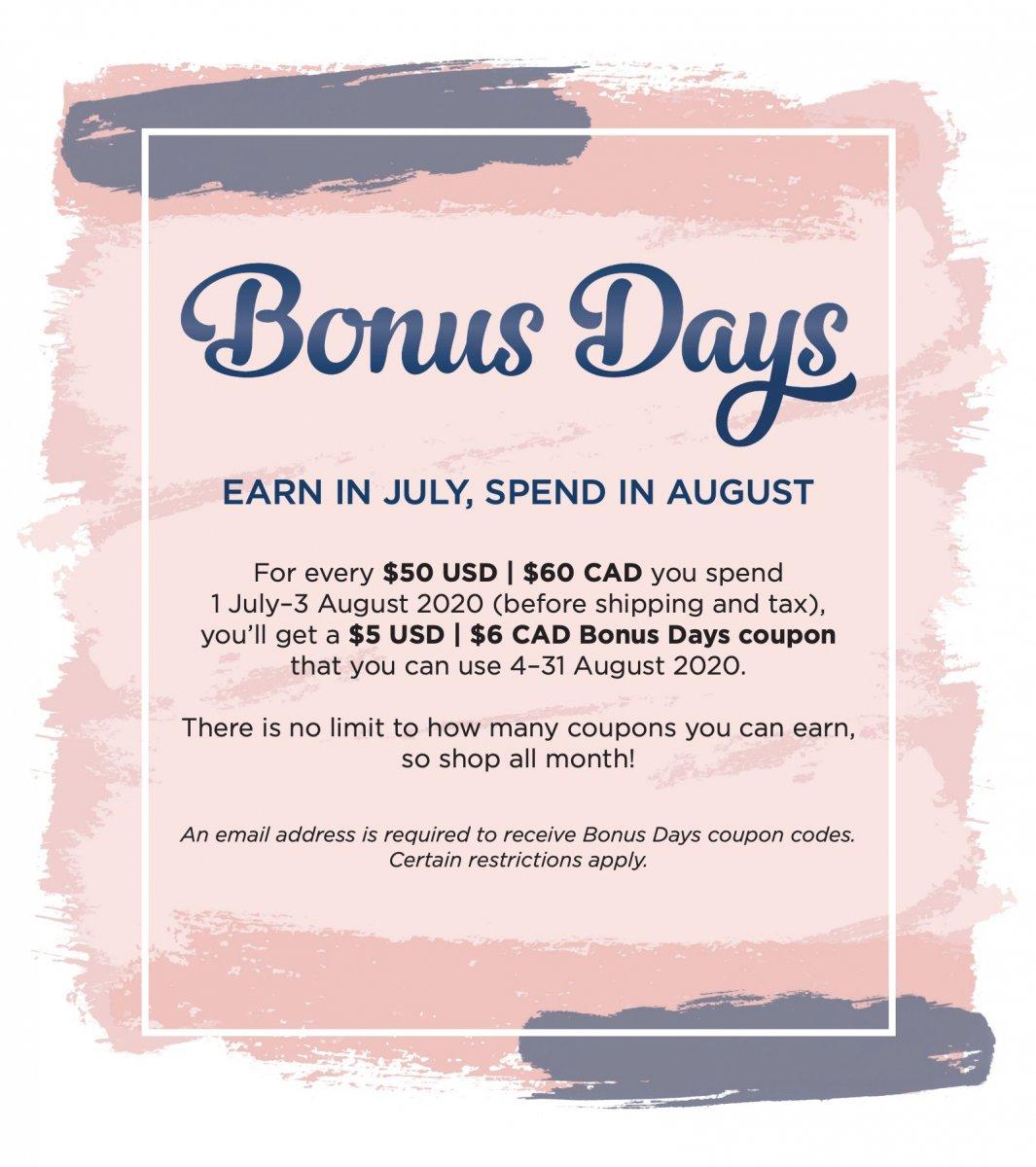 Earn Coupons with Bonus Days